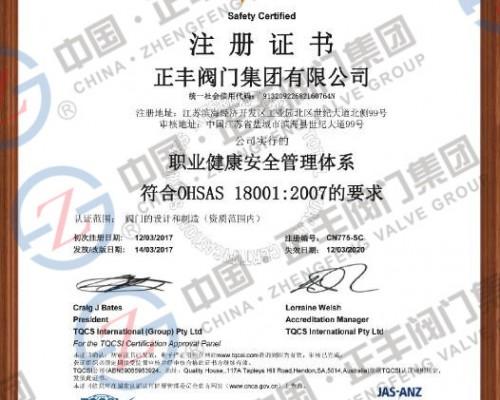 OHAS 18001中文